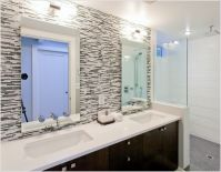 Bathroom Glass Backsplash | Thanks to Synthesis Design Inc ...