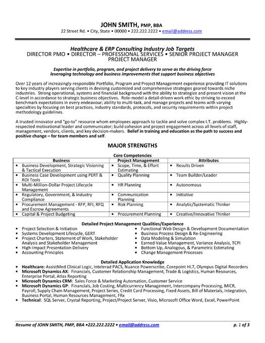 Click Here to Download this Health Care Consultant Resume Template - pmo director resume