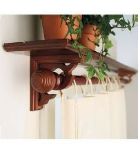 Window shelf curtain rod (Guest room) | Home is Where the ...