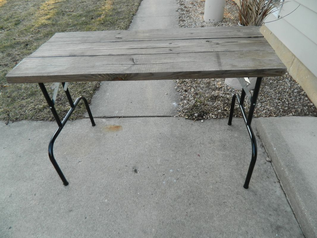 Diy Folding Dining Table Small Reclaimed Wood Table Work Desk With Folding Metal