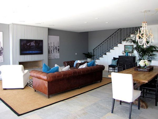 Design Ideas Living Room Brown Leather Couch French interior - brown leather couch living room