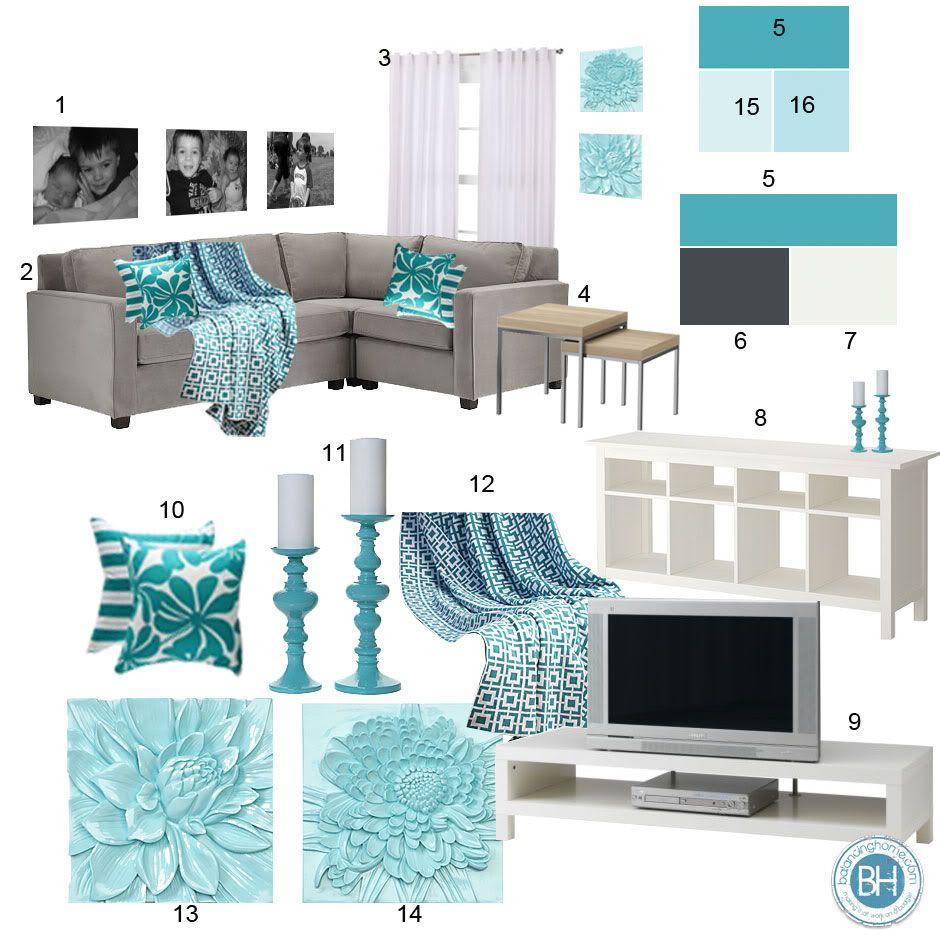 Aqua Color Schemes on Pinterest