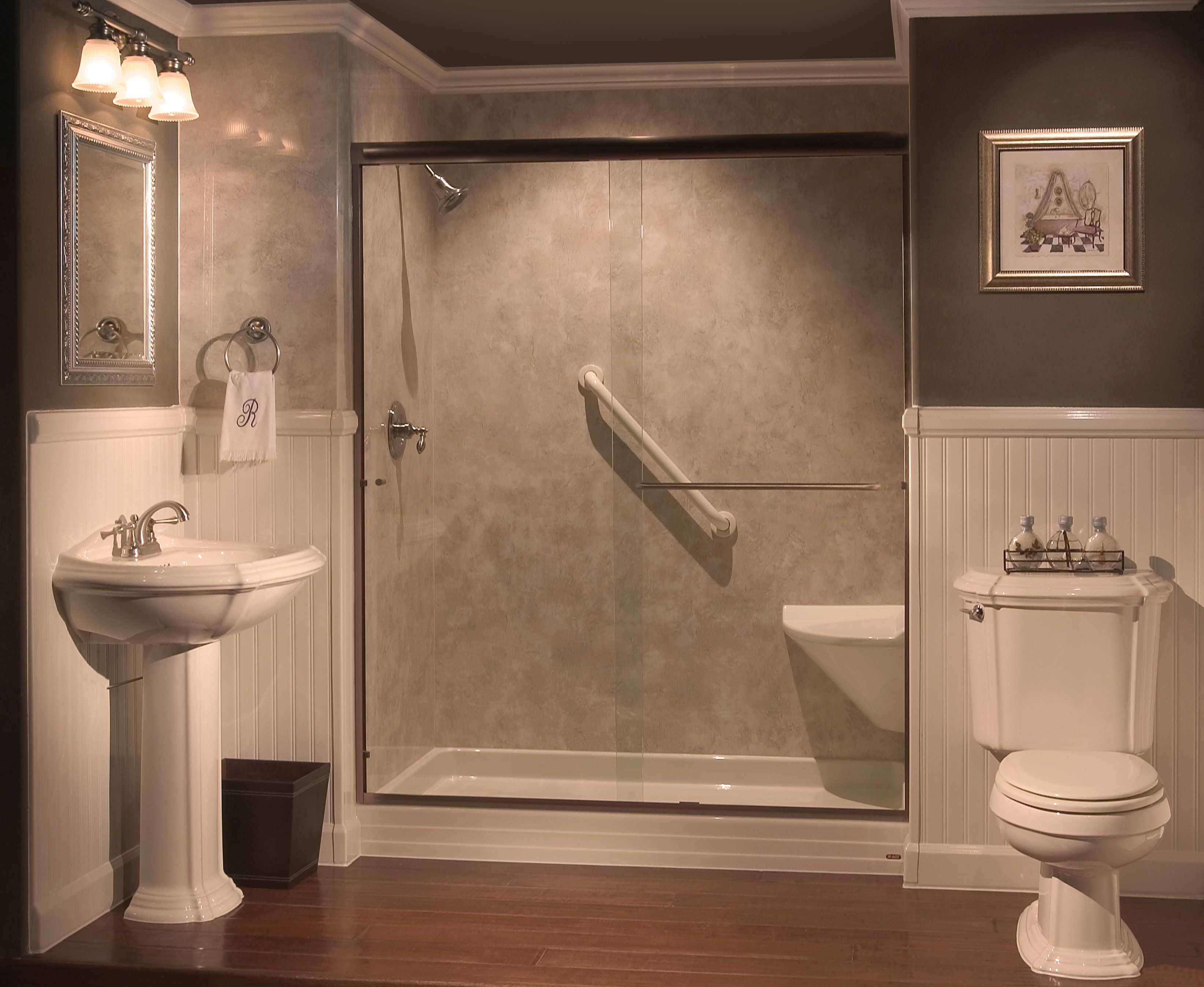 Bathtub Showers Showers With Seats Built In Tub To Shower Conversions