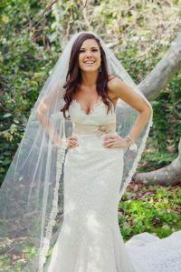 Lace Wedding Veils With Hair Down   www.pixshark.com ...