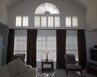 drape ideas tall windows | ... window with a rod placed ...