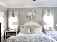 Romantic Master Bedroom Decorating Ideas blue, GREY, WHITE