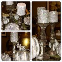 Dollar Tree DIY Faux Mercury Glass Candlestick Holders (Z