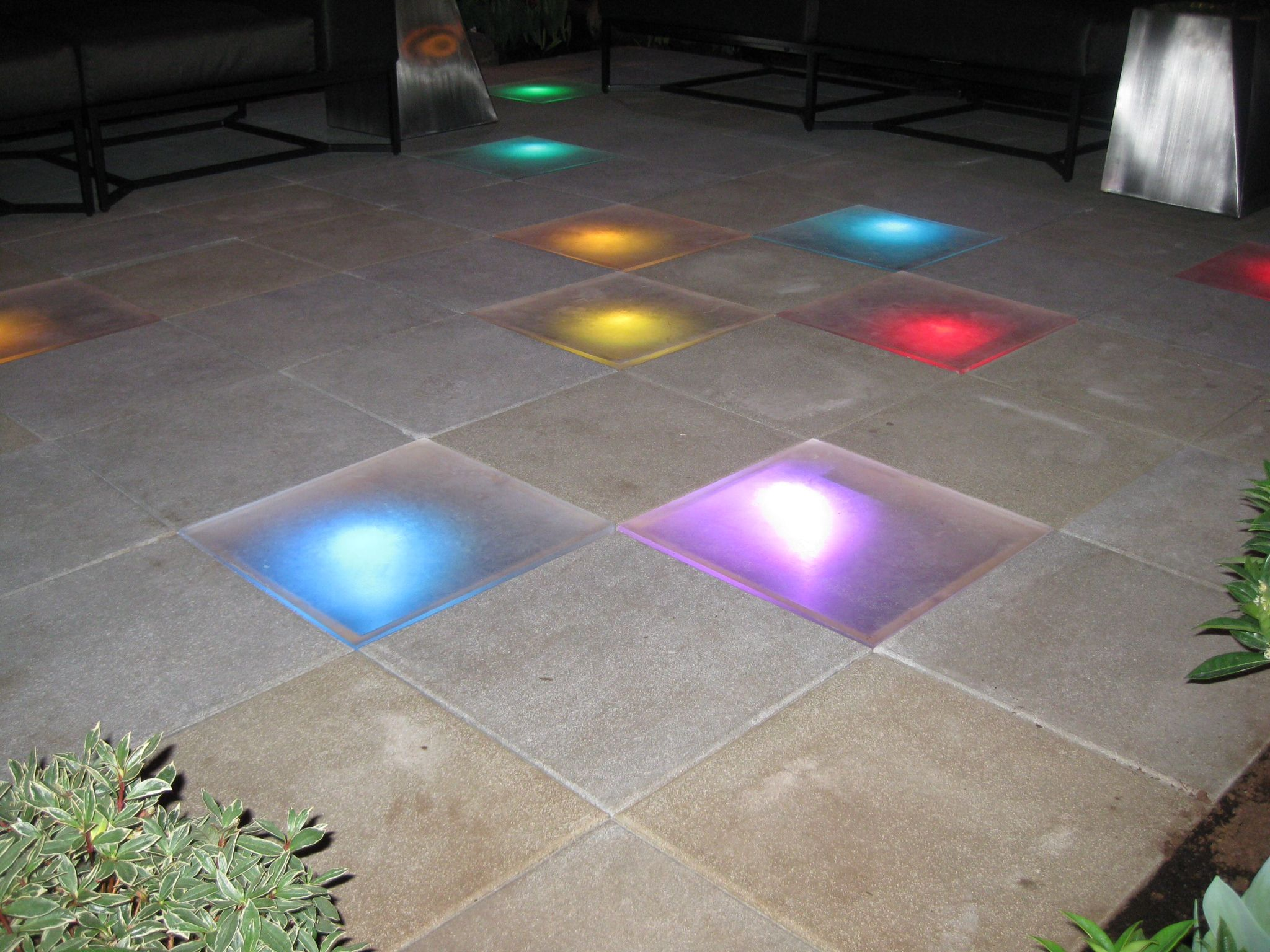 Light Up The Floor Light Up Your Outdoor Floor Way Cool Glass Art In The