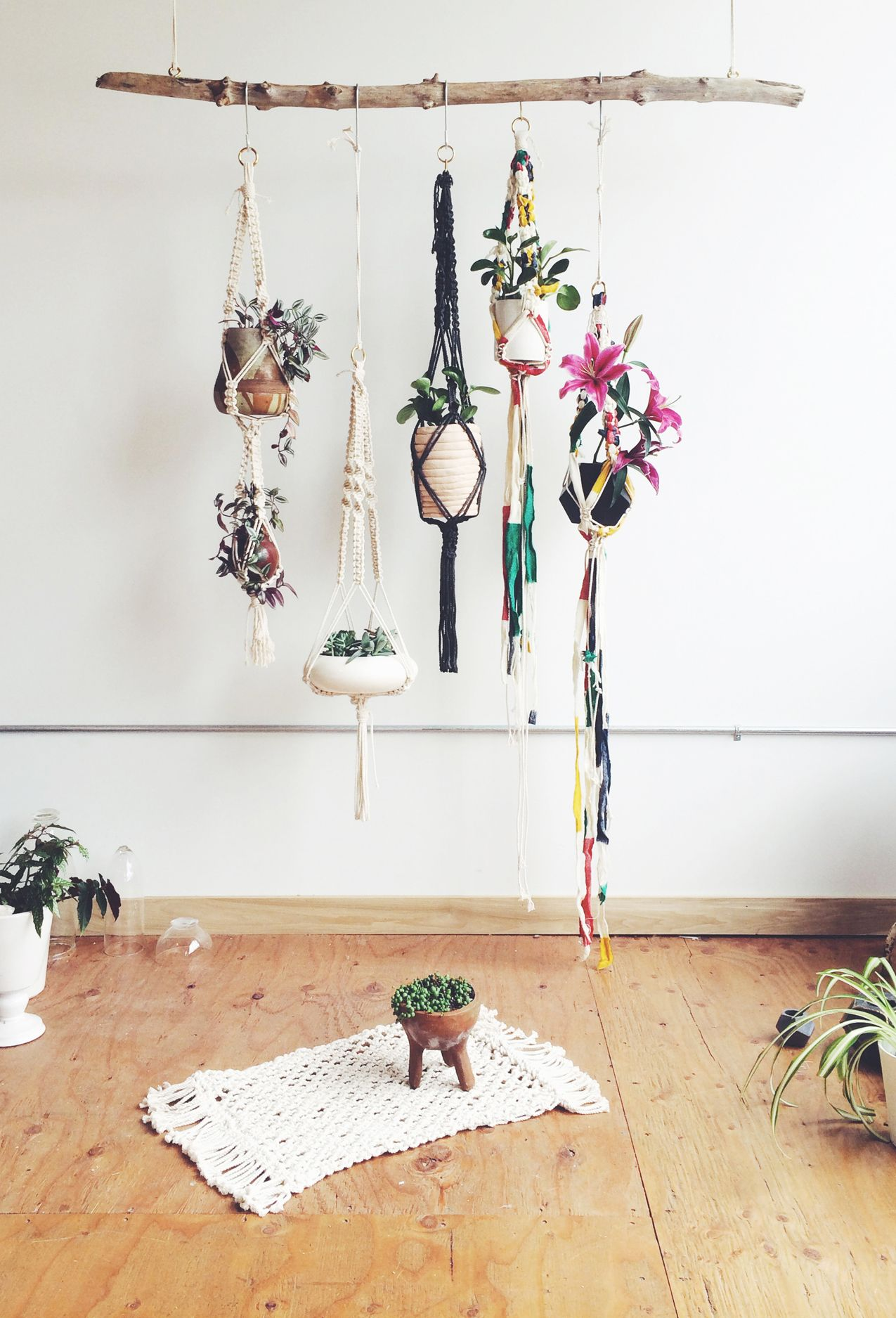 Wall Planter Hooks Macramé Hanger Planters And Plant Hangers