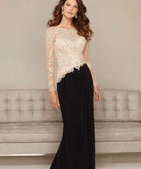 Charming Jewel Long Sleeve Formal Evening Dresses Vintage ...