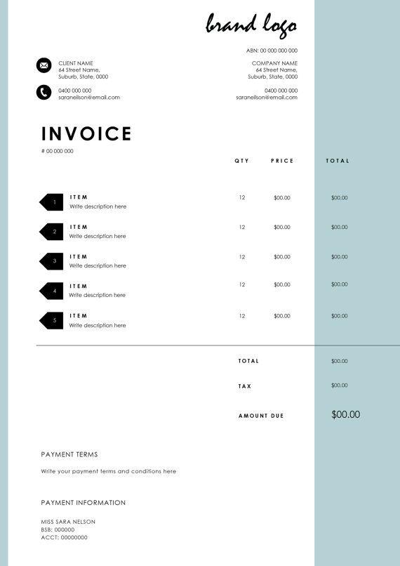 template invoice microsoft word