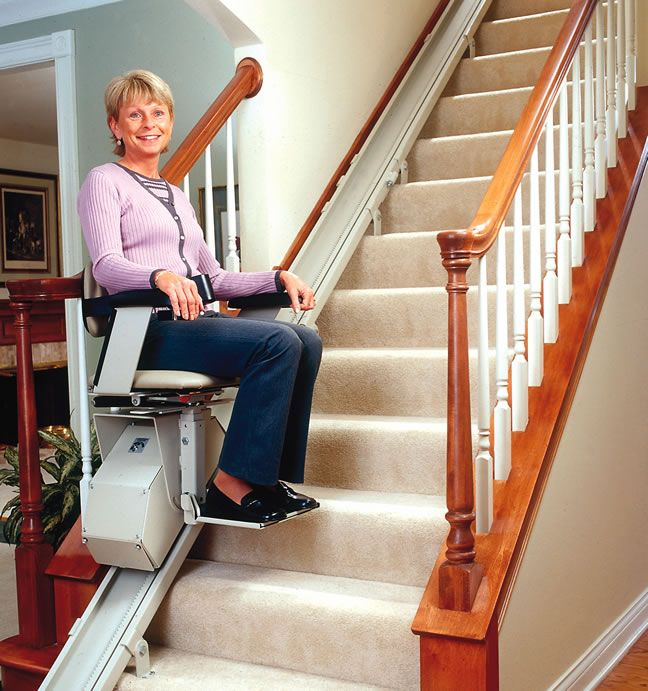 Brunos Electra Ride Ii Straight Rail Stairlift Combines