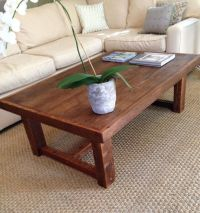 Large Rustic Pi Coffee Table Made From Reclaimed New ...