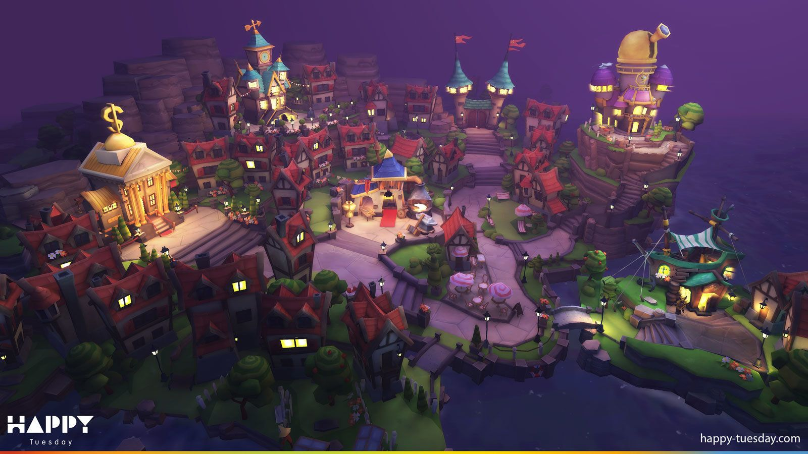 3d House Wallpaper Room Village For Haunted Island Mobile Happy Tuesday On