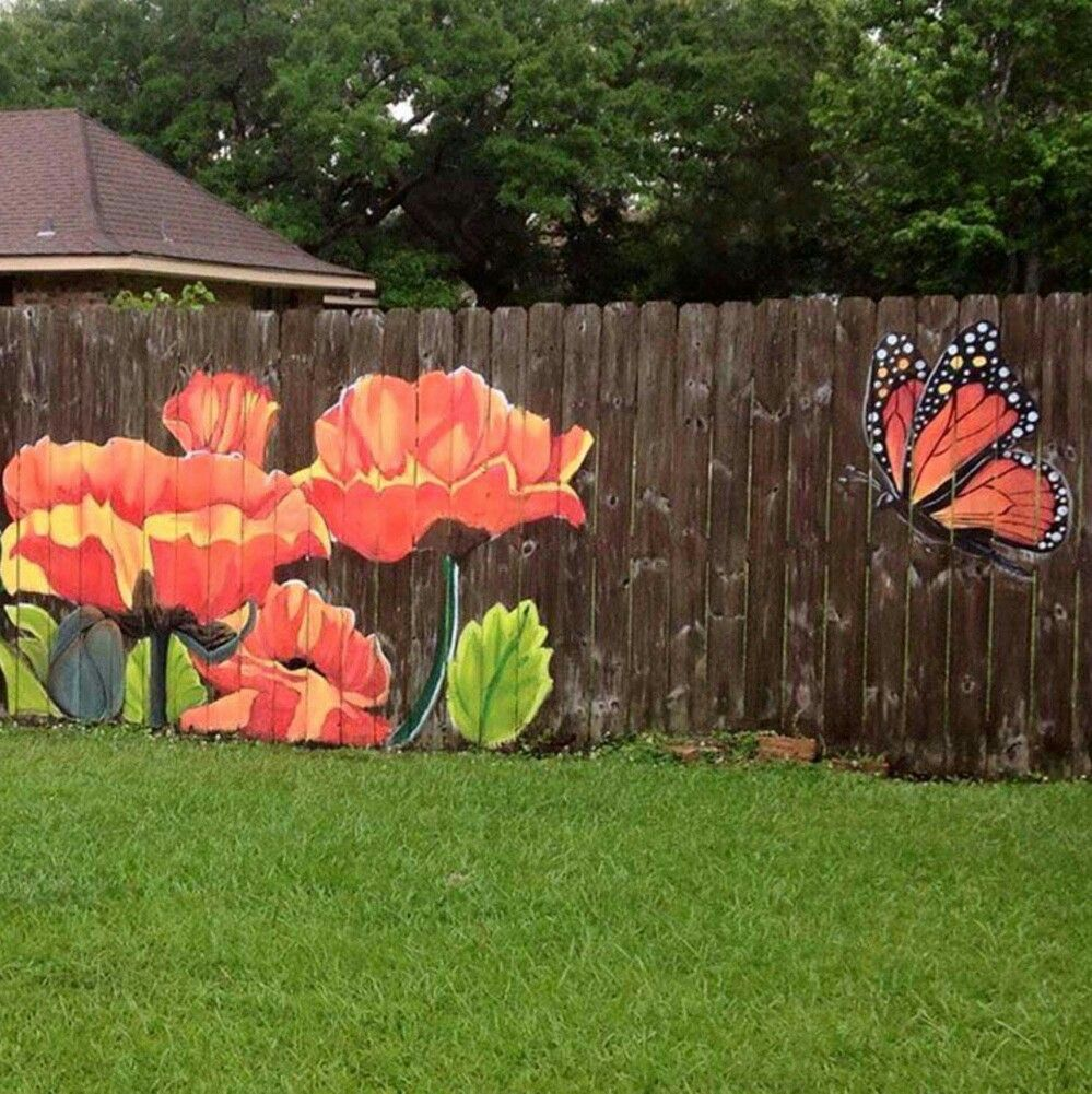 Grand Paint A On Fence Paint A On Fence Gardening Pinterest Fences Diy Garden Fence To Keep Dogs Out Diy Garden Fence Pinterest garden Diy Fence Garden