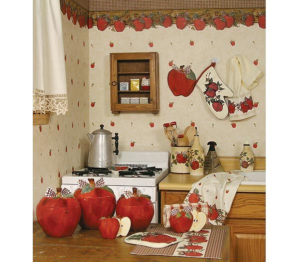 Blonder Home Country Apple Kitchen Decorating Theme MY kind of - kitchen decorating theme ideas