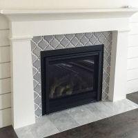 Artisan Arabesque Grigio Ceramic Wall Tile fireplace ...