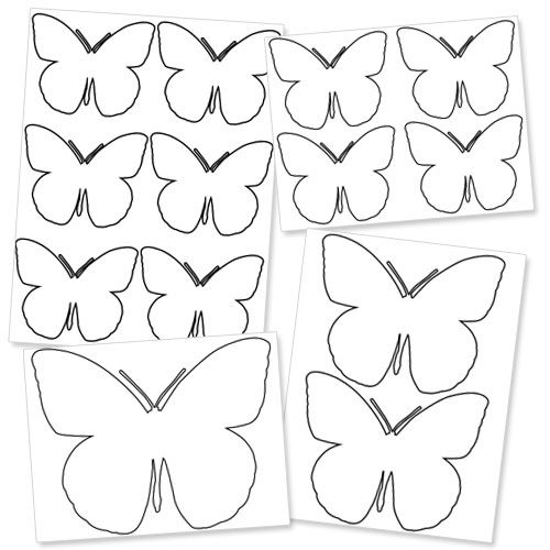 large printable butterfly template free printable butterflyu0027s - butterfly template