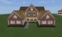 Minecraft Pink Realistic Country House Porch | Minecraft ...
