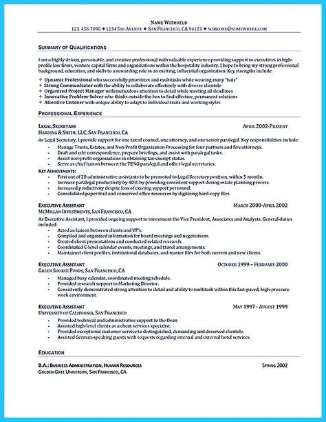 cool Best Administrative Assistant Resume Sample to Get Job Soon - resume template for administrative assistant