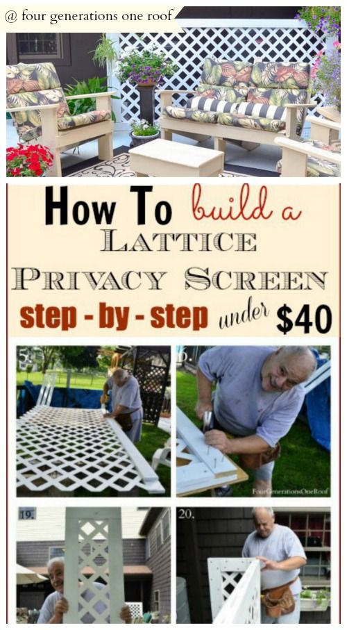 Daybed Holz How To Build A Lattice Privacy Screen On A Budget {tutorial