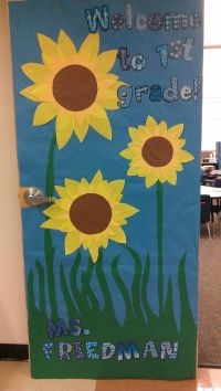 Sunflowers fall classroom door | Classroom Door Decor ...