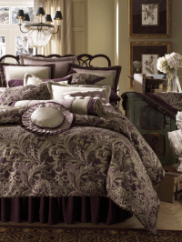 luxury bedding | ... luxury bedding sets with purple bed ...