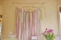 ribbon wall decoration This would be a cute window ...
