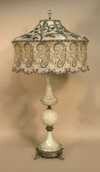 Antique table lamp with victorian lamp shade | lamps ...