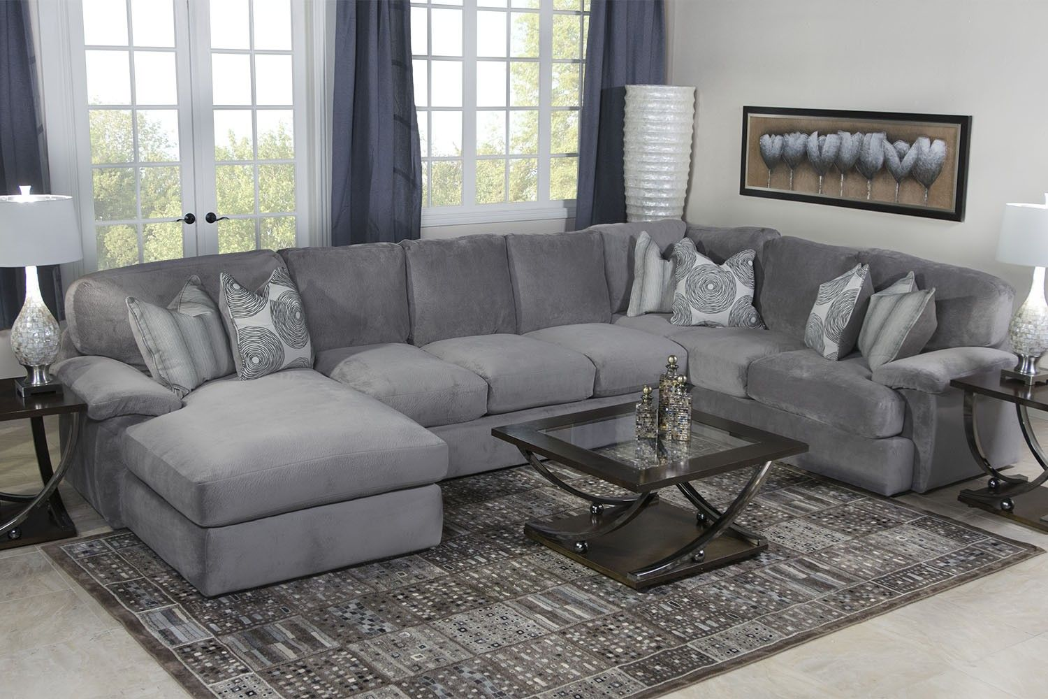 Sofa Design Grey Colour Key West Sectional Living Room In Gray - Living Room | Mor