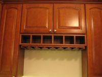 under cabinet wine rack | maple cabinets by thomasville ...