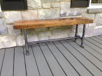 Reclaimed Wood Bench | Reclaimed wood benches, Oak bench ...