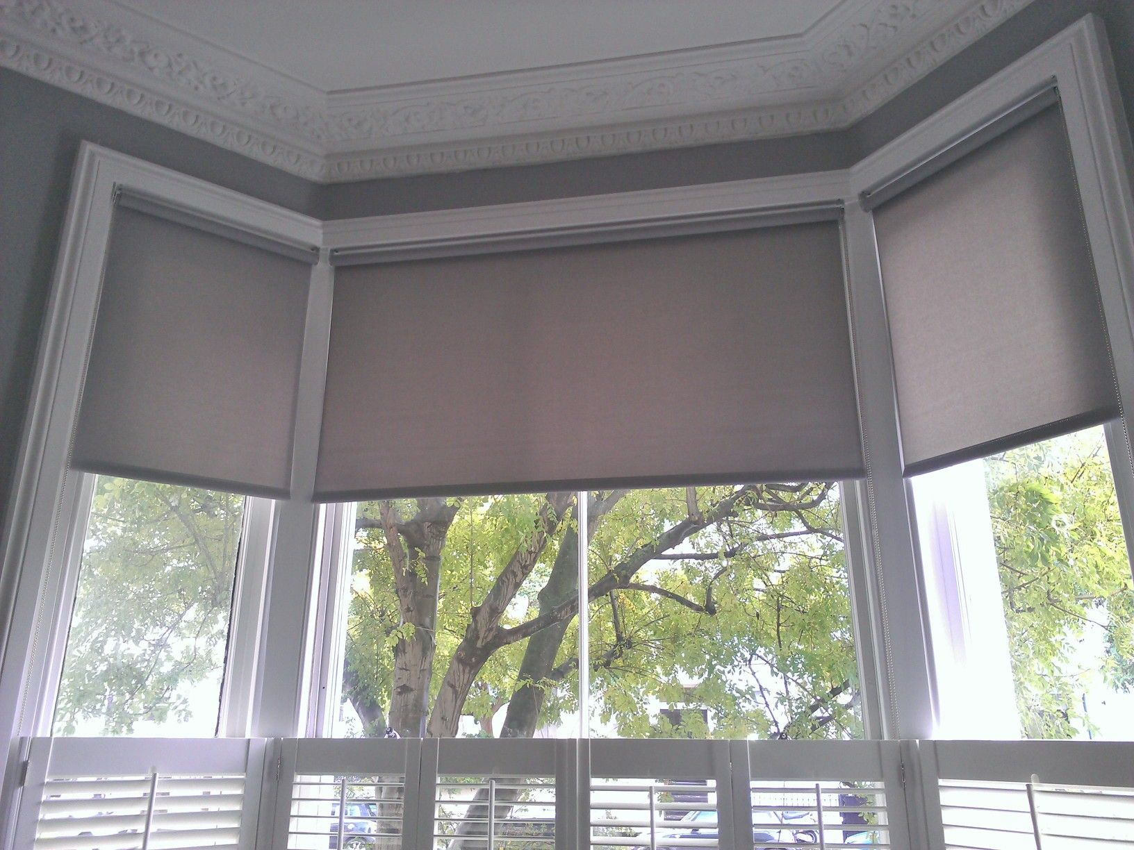 Roller blinds on bay windows google search