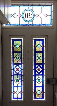 front door stained glass pannels