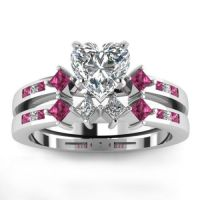 Heart-Shaped-CZ-Engagement-Wedding-Ring-925-Sterling ...