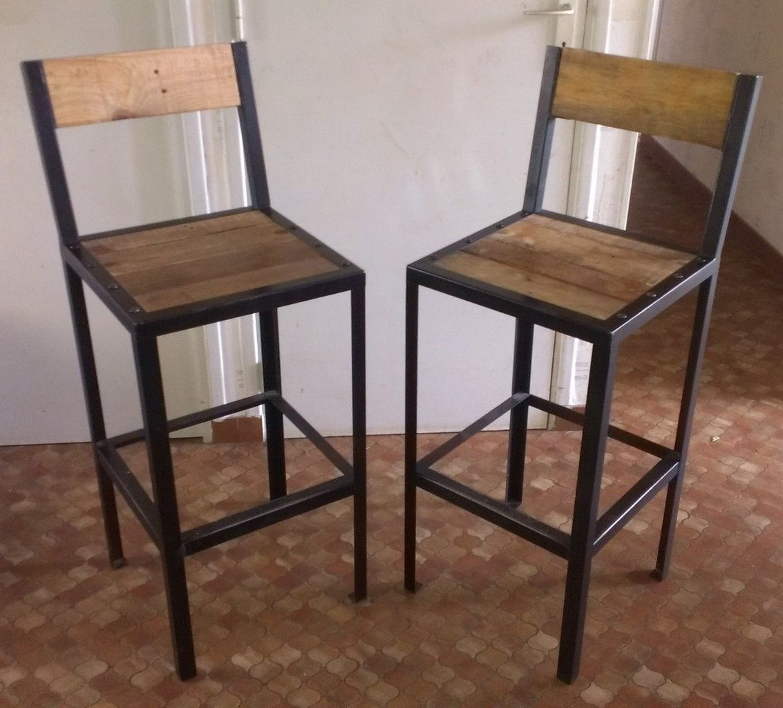 4 Tabourets De Bar Stockholm Voici Un Ensemble De Tabourets De Bar L 39assise Est De