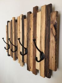 Coat Rack Wood Art by standardwoodco on Etsy | Home Decor ...
