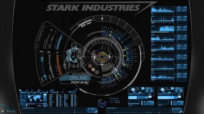 JARVIS + Iron Man : Blue Rainmeter Theme by *edreyes | user interface | Pinterest | User ...