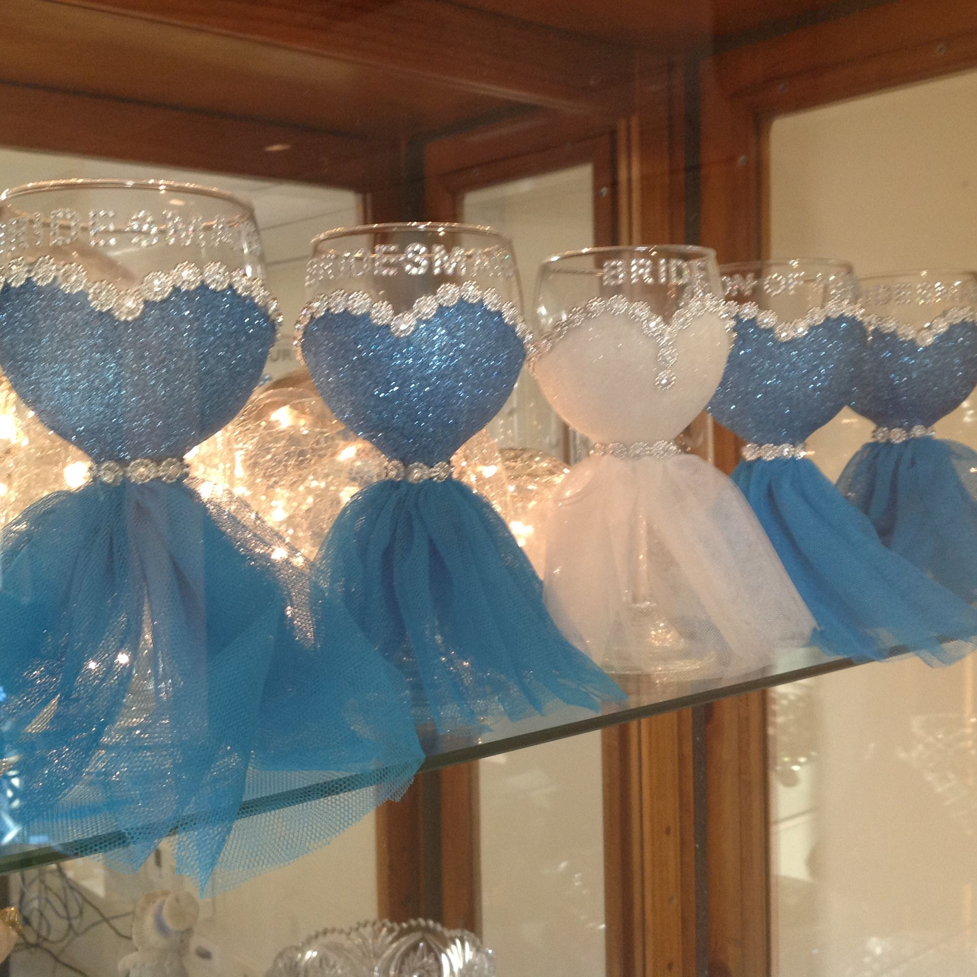 Diy Wedding Champagne Glasses Ideas Bridal Party Wine Glasses H Bridal Showers Pinterest