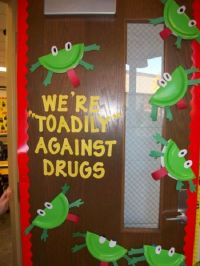 "Red ribbon week/""say no to drugs"" door decoration for a ..."