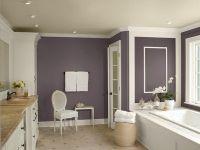 Neutral Bathroom Color Schemes: Neutral Purple Bathroom ...