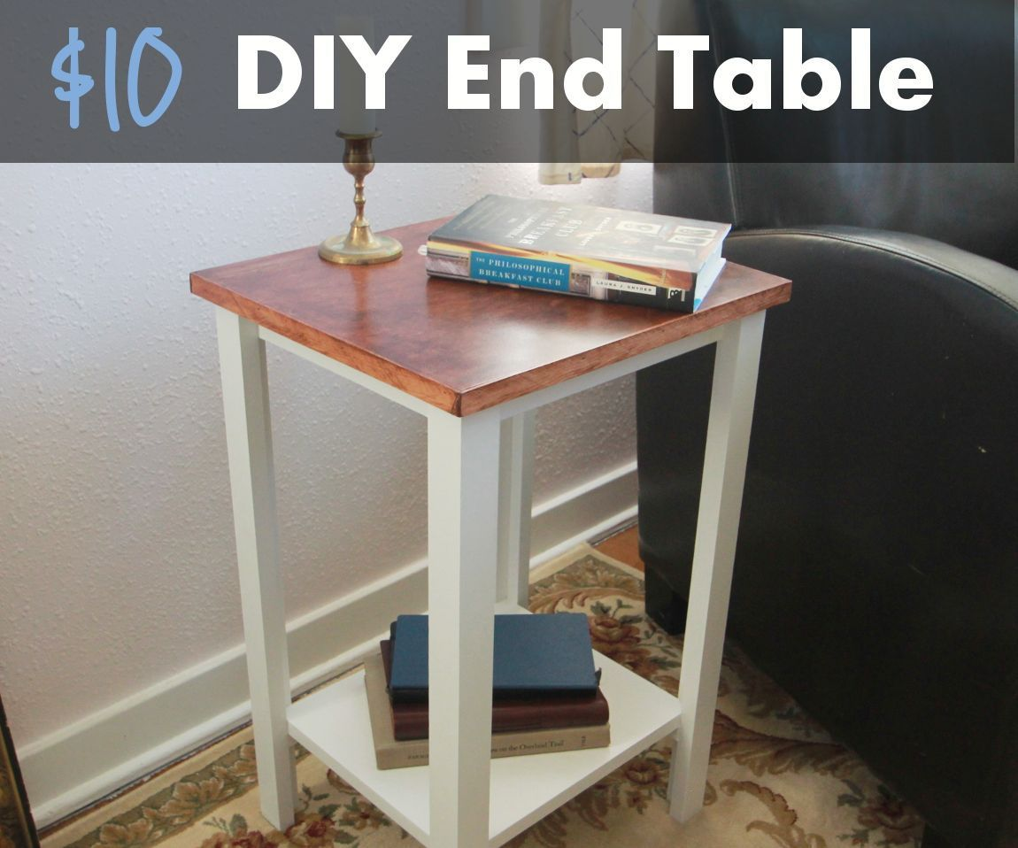 Diy Nail Desk Simple Diy End Table For 10 Sheet Of Plywood Home