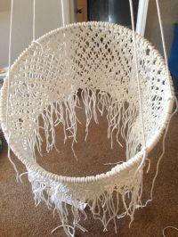 DIY Hanging Macram Chair   Macrame chairs, Tutorials and ...