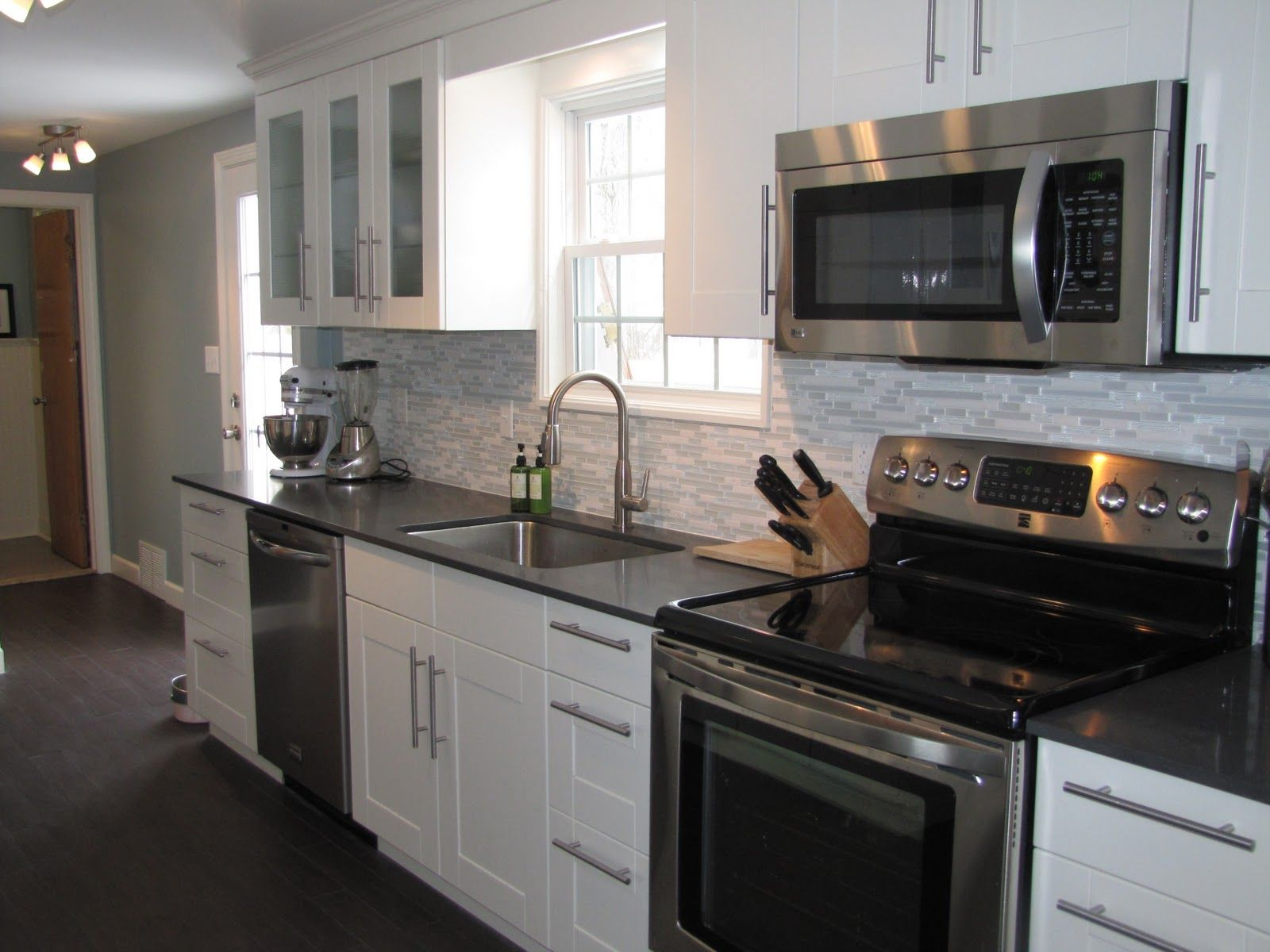 Pinterest Cabinets Kitchen Glamorous Kitchen Cabinet Colors With Black Appliances