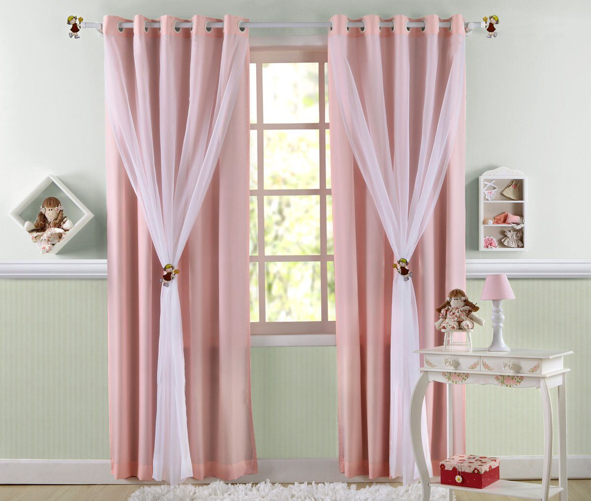 Cortina Decoracion Cortina Infantil Rosa Decoración Pinterest Cortinas