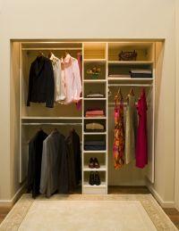 simple bedroom closet no doors | Roselawnlutheran