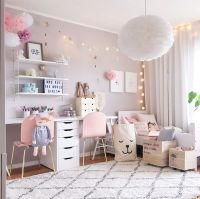 A Scandinavian style Shared Girls' Room