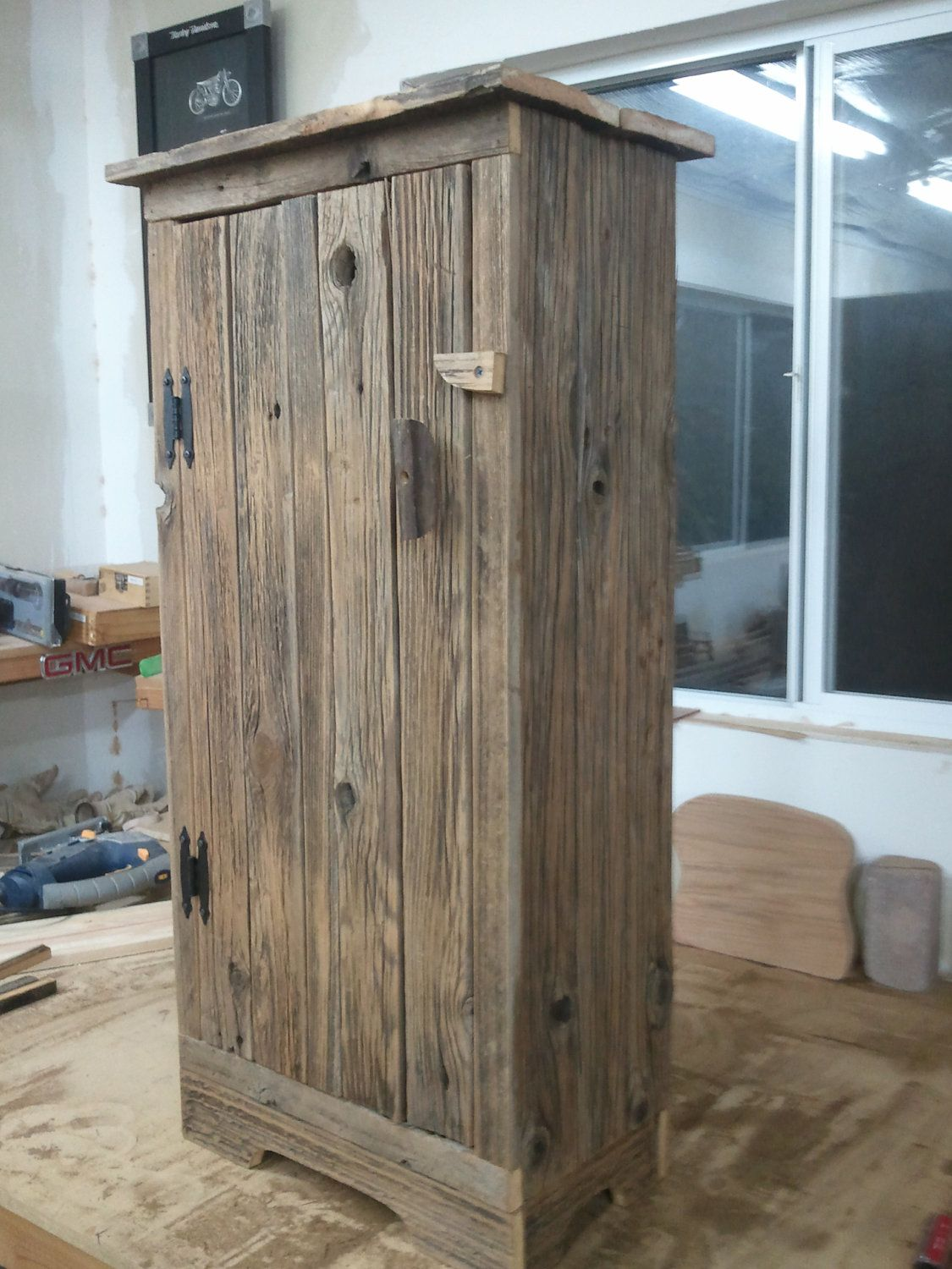 Barn Board Kitchen Cabinets Barnwood Jelly Cabinet 145 00 Via Etsy Diy Rustic