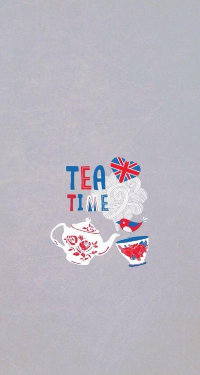 Tea Time Britain iPhone Wallpaper Cute | It's So Me! | Pinterest | Tea time, Britain and Wallpaper