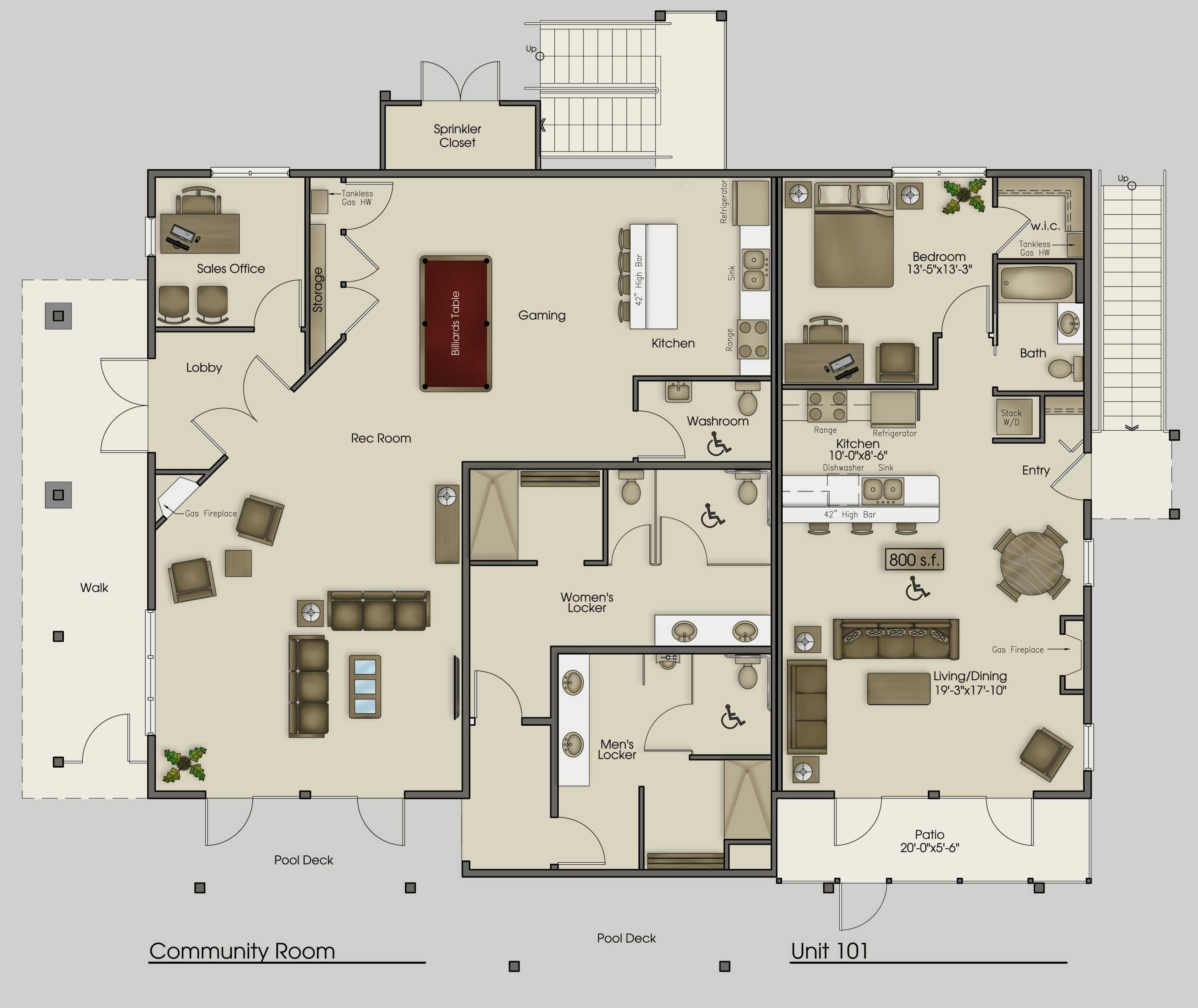 Free Commercial Kitchen Layout Design Software Mega Villa Plans Clubhouse Plan Pictures Apartments Sample